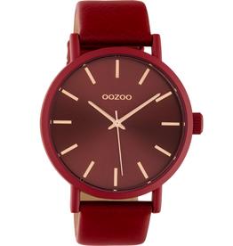 OOZOO Horloge peper rood/rosé 42mm C10445 - OOZOO