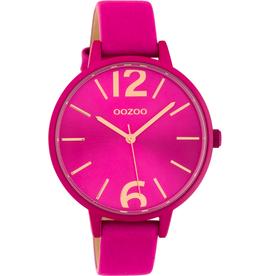 OOZOO Horloge Fuchsia/rosé 42mm C10443 - OOZOO