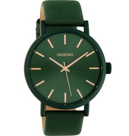 OOZOO Horloge donker groen/rosé 42mm C10453 - OOZOO