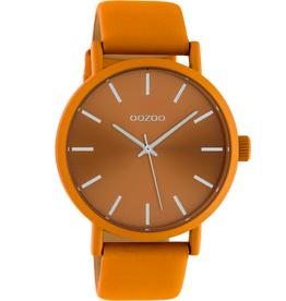 OOZOO Horloge donker geel/zilver 42mm C10451 - OOZOO