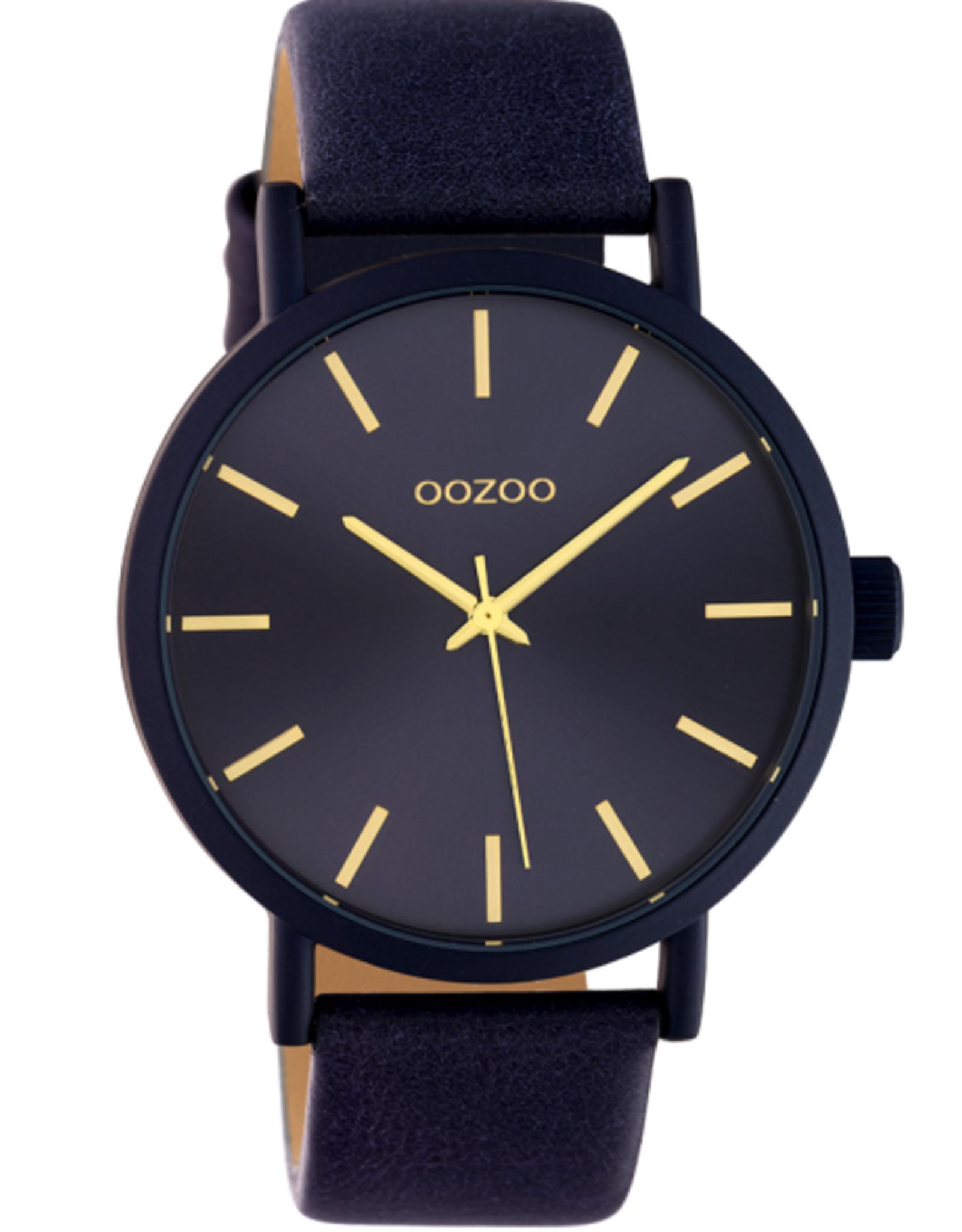 OOZOO Horloge donker blauwgoud 42mm C10454 OOZOO