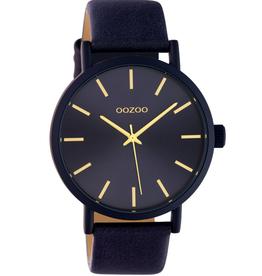 OOZOO Horloge donker blauw/goud 42mm C10454 - OOZOO