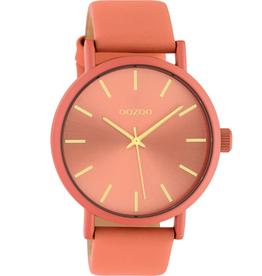 OOZOO Horloge perzikroze/goud 42mm C10447 - OOZOO