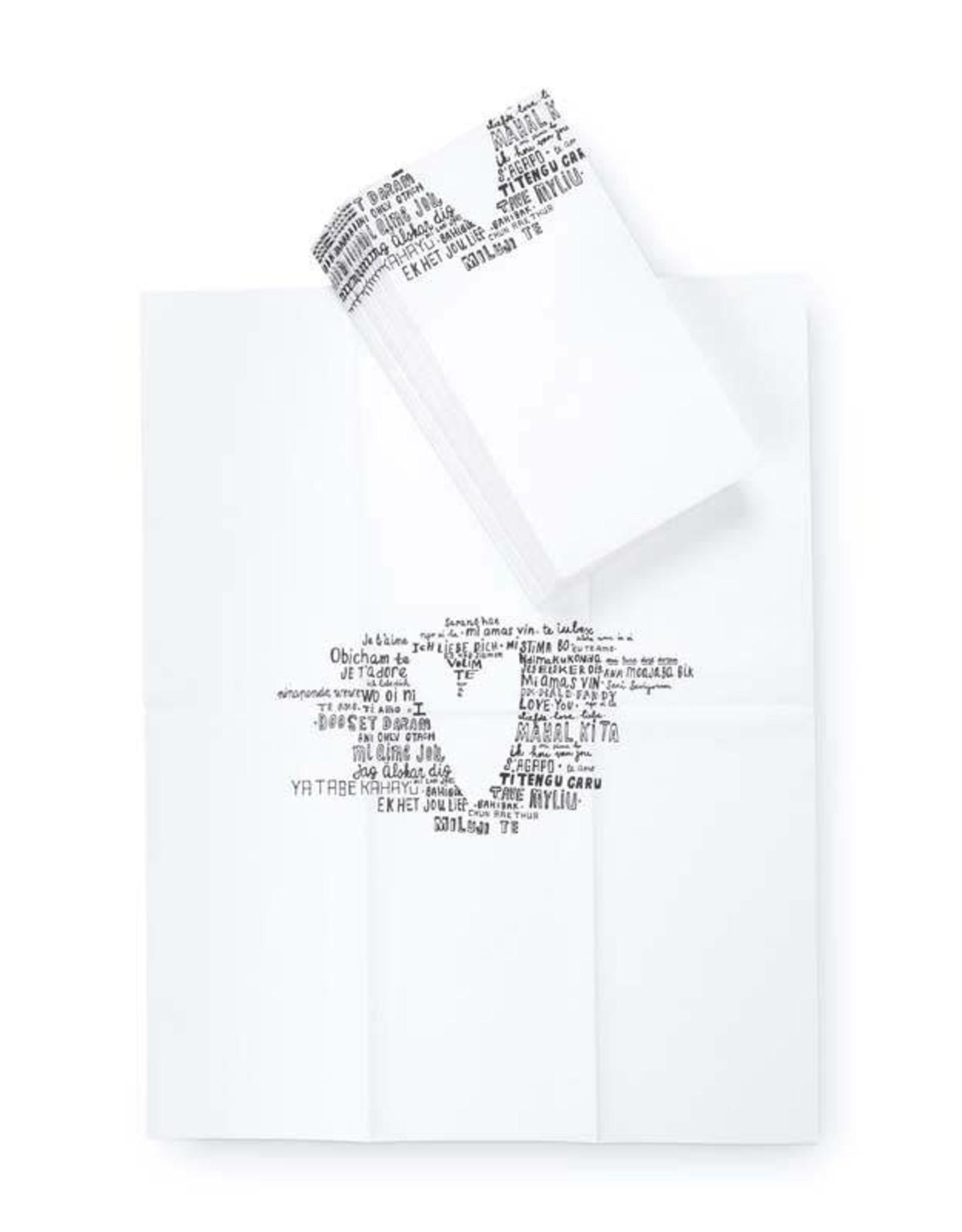 vtwonen Papieren Servetten Heart Happy 32,5x42cm - vtwonen