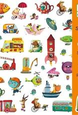 Djeco 160 Stickers Onderweg - Djeco