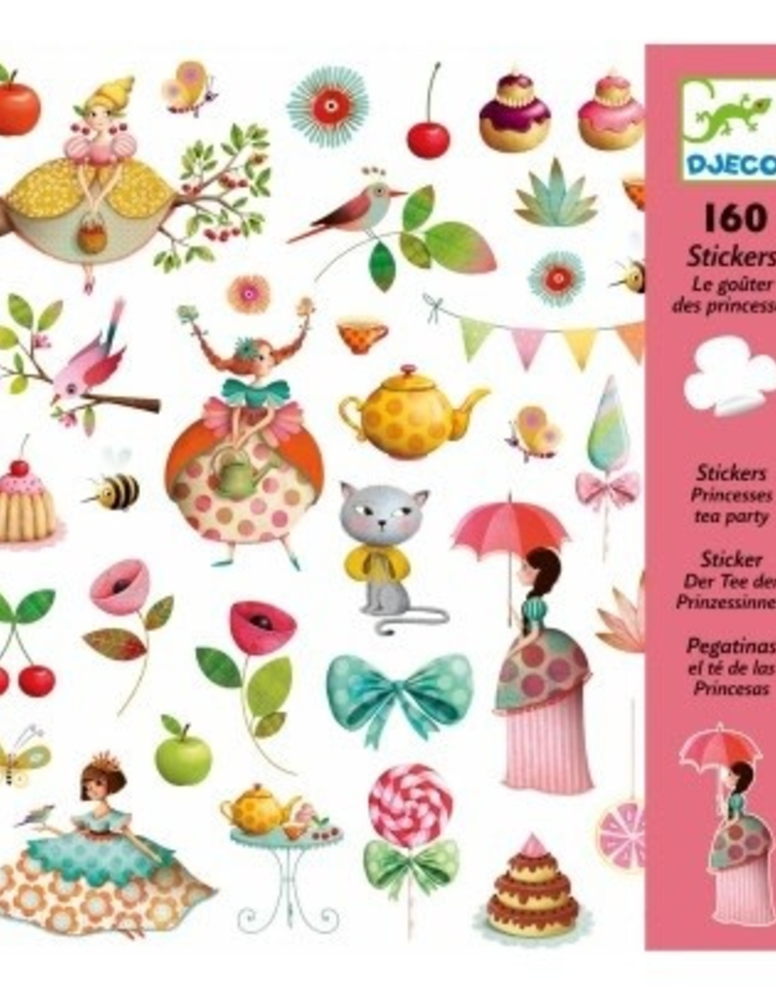 Djeco 160 Stickers Thee drinken met Prinsessen - Djeco