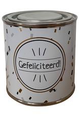 """The Big Gifts Snoepblikje """"Gefeliciteerd"""" - The Big Gifts"""