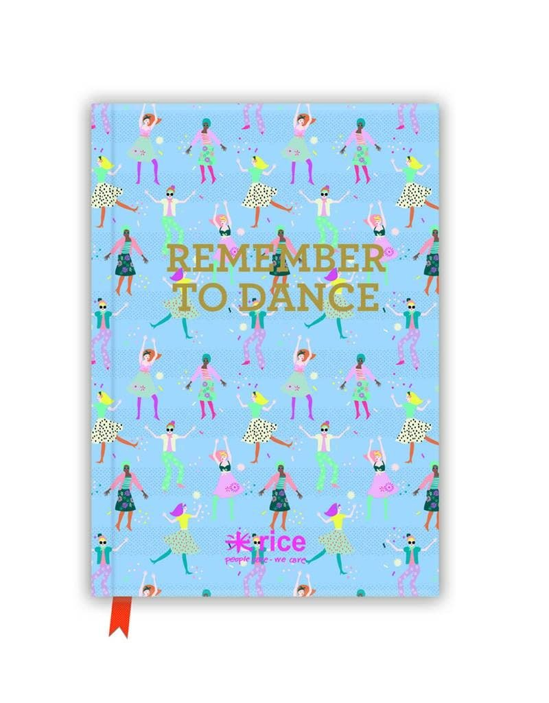 """Rice Notitieboek A5 """"Remember to Dance"""" - Rice"""