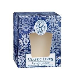 GreenLeaf Classic Linen Geurkaars 15 branduren - GreenLeaf