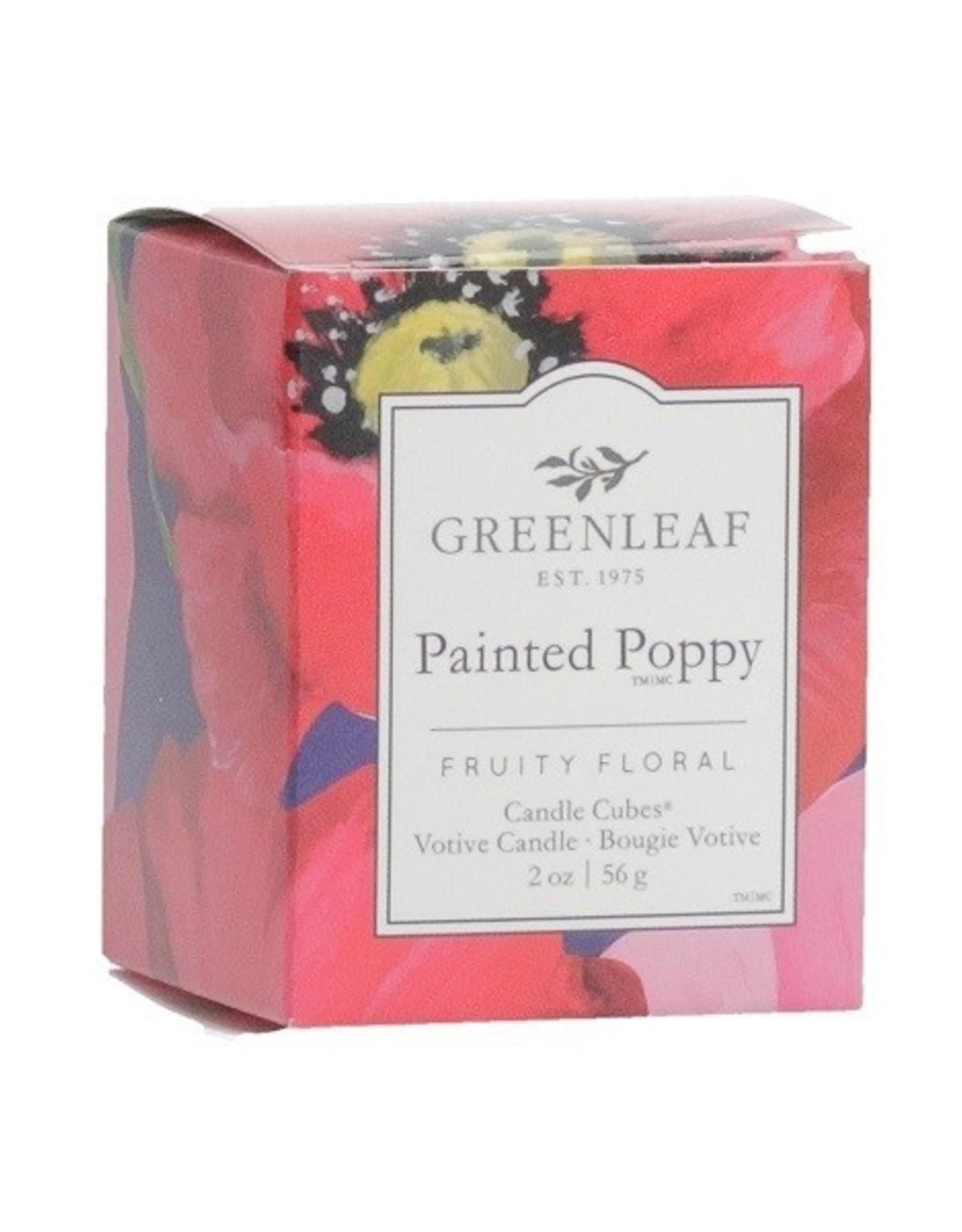 GreenLeaf Painted Poppy Geurkaars 15 branduren - GreenLeaf