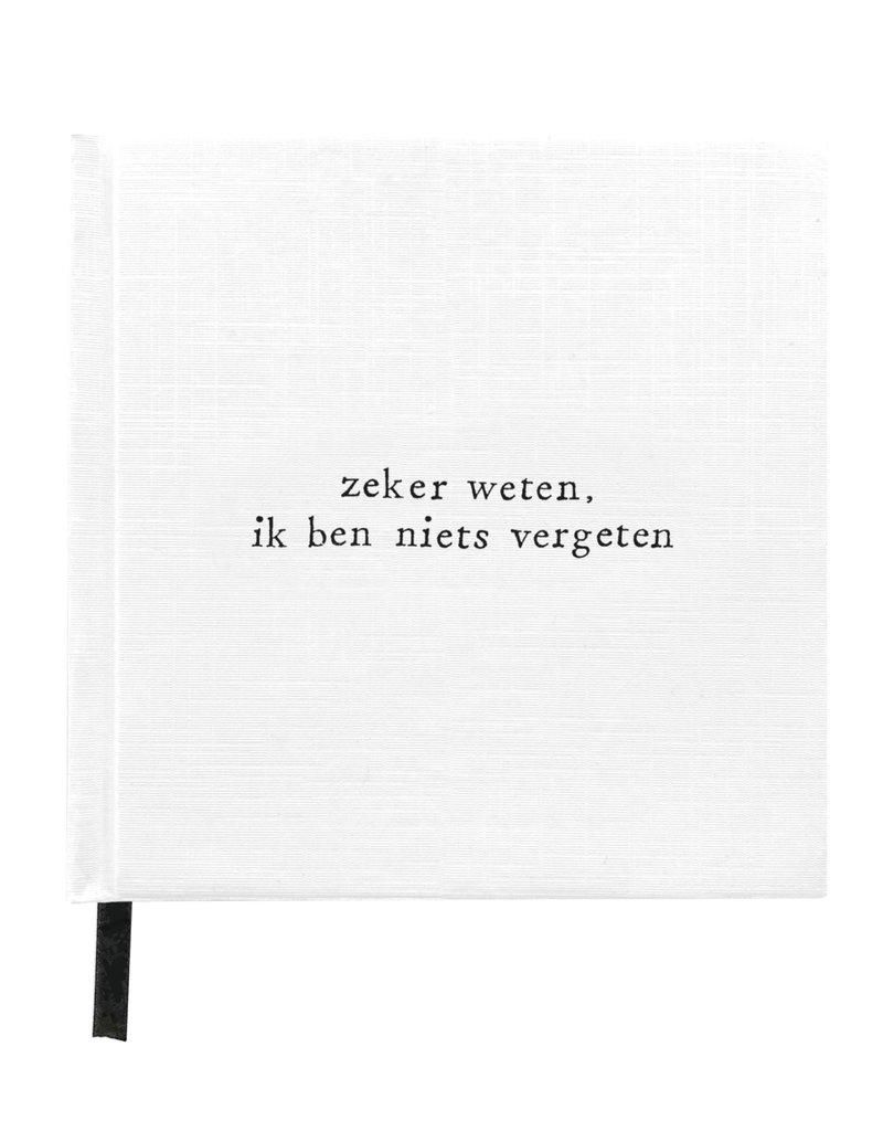 IkPakJeIn Notitieboek Zeker Weten, ik ben niets vergeten 12x12cm - IkPakJeIn