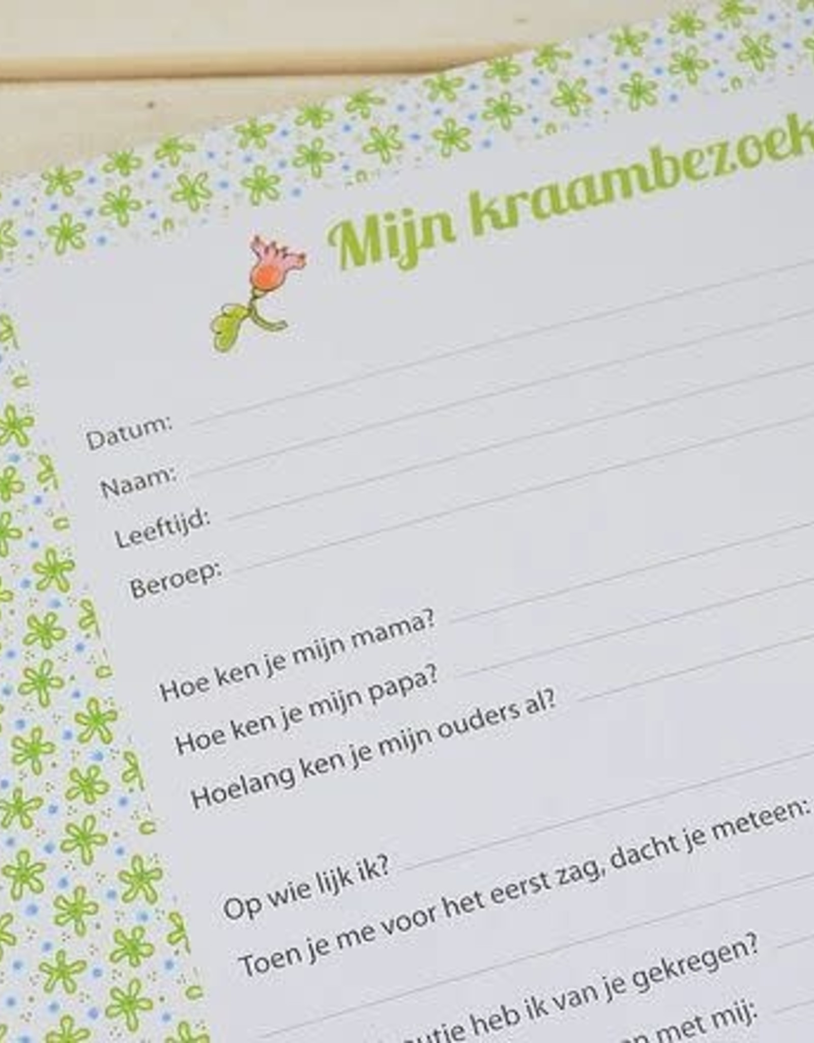 Pauline Oud Kraambezoekboek - Pauline Oud