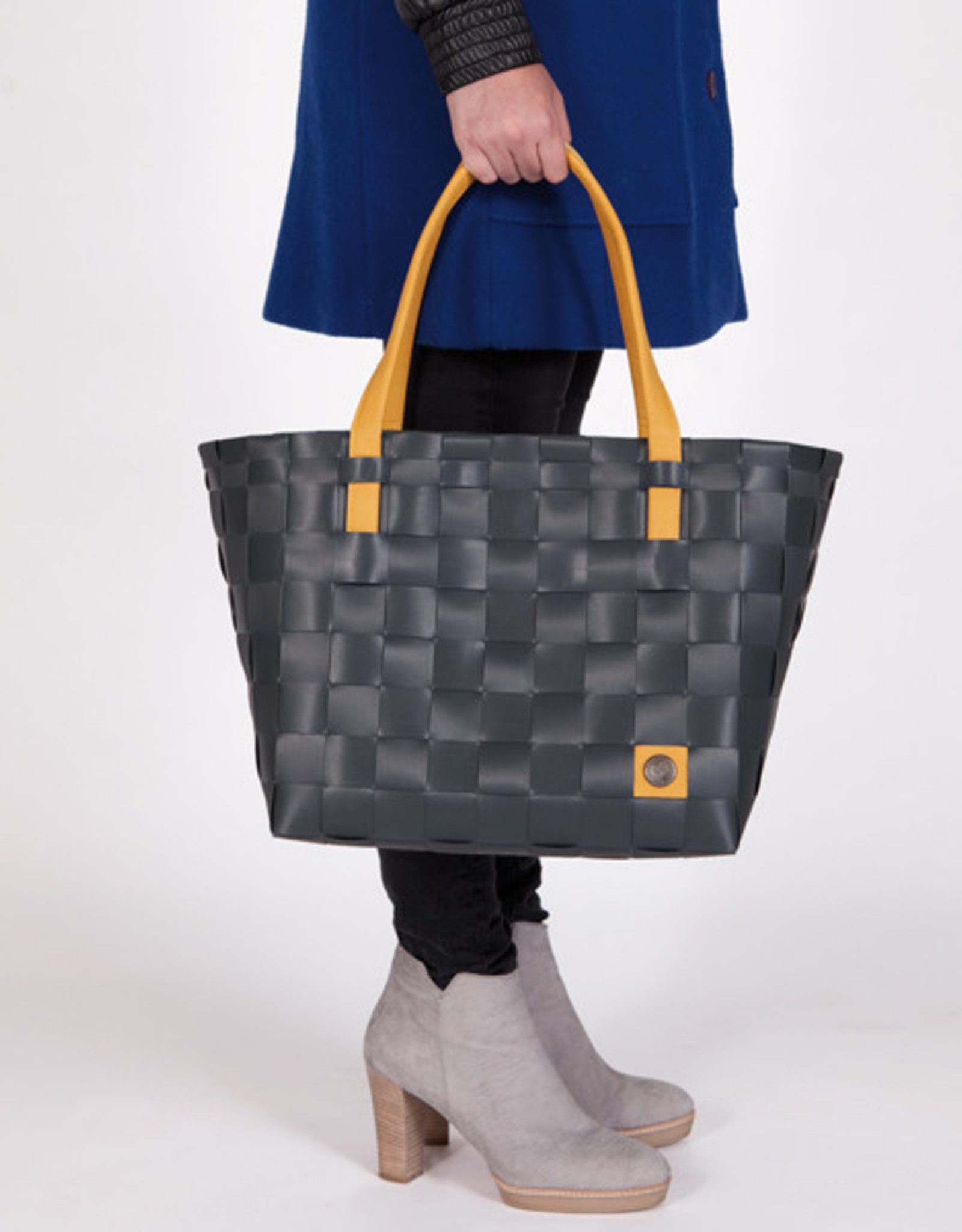 "Handed By Shopper ""Color Block"" dark grey - Handed By"