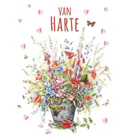 Wenskaart Van Harte -  Janneke Brinkman