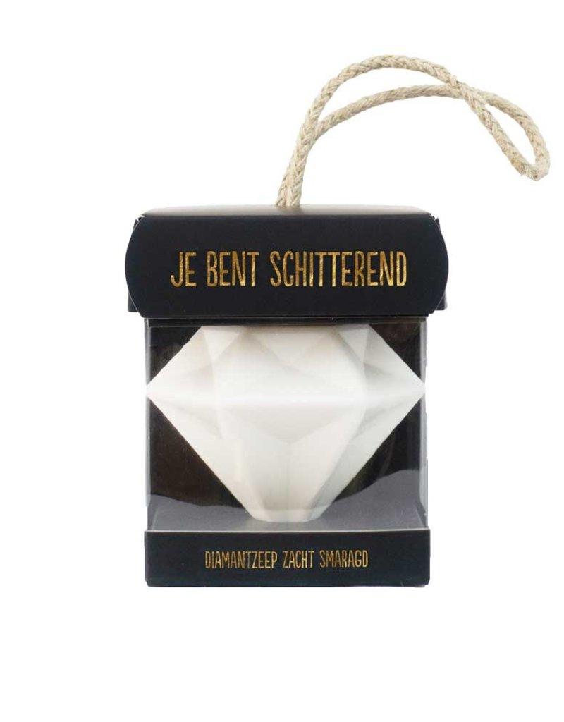 "100% Leuk Diamantzeep ""Je bent Schitterend"" - 100% Leuk"