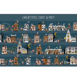 Ansichtkaart Groetjes Sint & Piet
