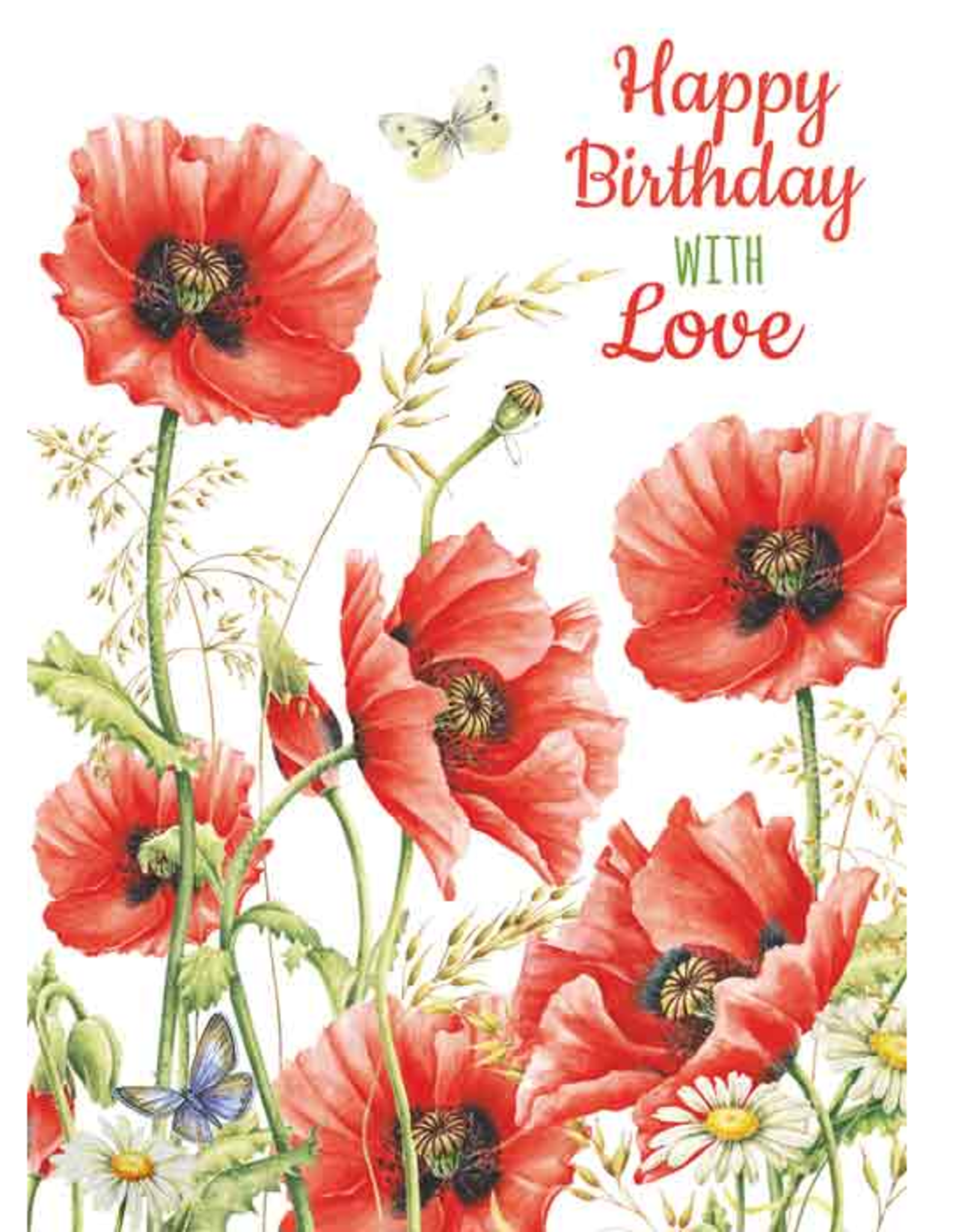 Wenskaart Happy Birthday With Love -  Janneke Brinkman