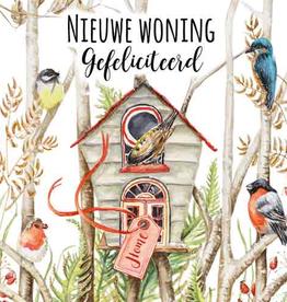 Wenskaart Nieuwe Woning Gefeliciteerd -  Janneke Brinkman
