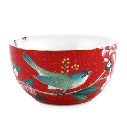 Pip Studio Kom Blushing Birds rood 12cm - Pip Studio