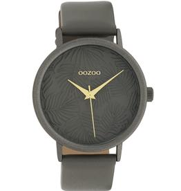 OOZOO Horloge donker d.grijs alu 42mm C10084 - OOZOO