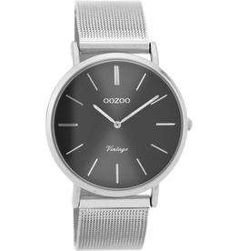 OOZOO Horloge zilver/grijs 36mm C9938 - OOZOO