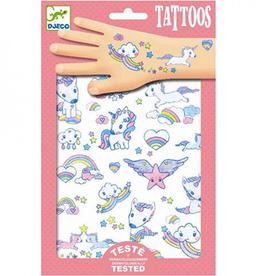 Djeco Tattoos Eenhoorns met Glitter - Djeco