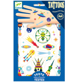 Djeco Tattoos Glow in the Dark Space - Djeco