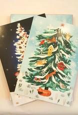 8 kerstkaarten - Roger la Borde - Kerstboom