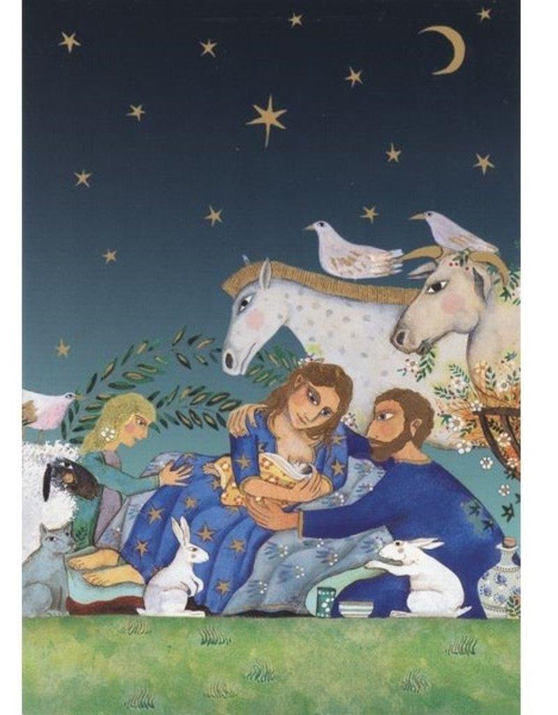 8 kerstkaarten - Roger la Borde - Kerststal