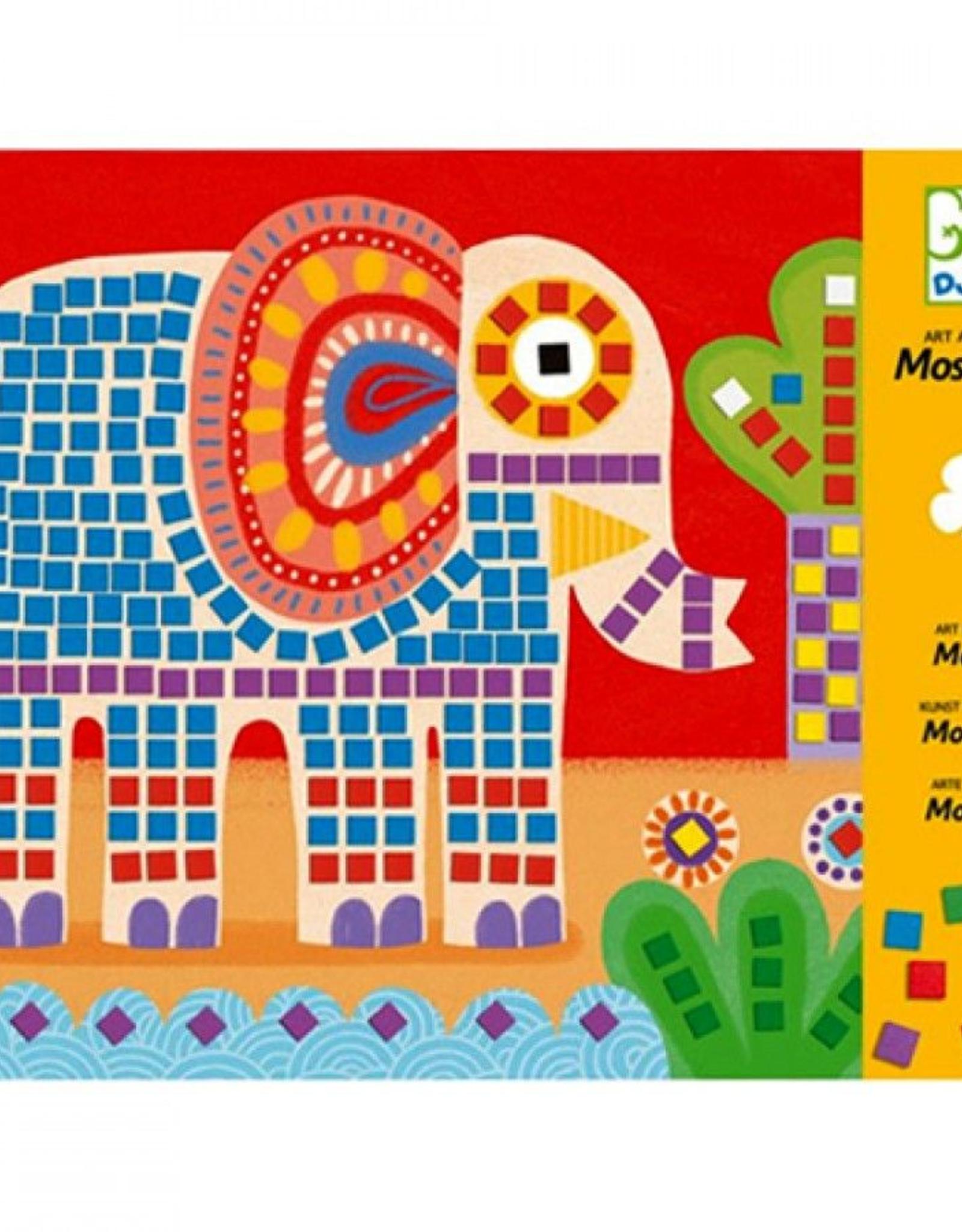 Djeco Mozaïek Kunst op Nummer Olifant en Slak +4jr - Djeco