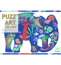 Djeco Puzzel Olifant Art 150stukjes +6jr - Djeco