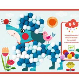 Djeco Knutselset Kunstwerk van Pompons Hondjes 3-6jr - Djeco