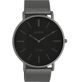 OOZOO Horloge titanium zwart 44mm C9928 - OOZOO