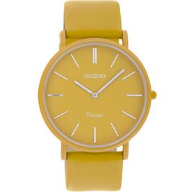 OOZOO Horloge Vintage mosterd geel alu 40mm C9887 - OOZOO