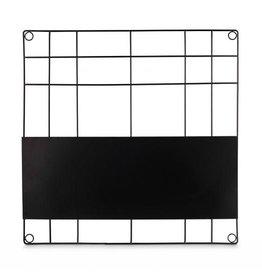 vtwonen Memo Bord Magnetisch Zwart 60x60cm - vtwonen
