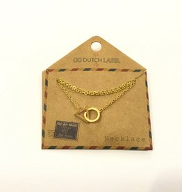 Go Dutch Label Ketting N8027-2 driehoek cirkel 14K goud - Go Dutch Label