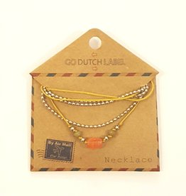 Go Dutch Label Ketting N9302-06 coral zilver / Go Dutch Label