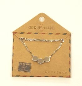 Go Dutch Label Ketting N8833-1 zilver / Go Dutch Label