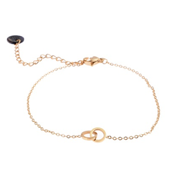 Go Dutch Label Armband. B8813-2 Cirkels 14K Goud - Go Dutch Label
