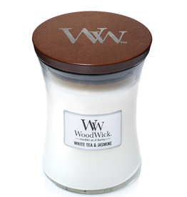 "WoodWick Kaars WoodWick ""White Tea & Jasmine"" medium - WoodWick"
