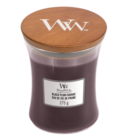 "WoodWick Kaars WoodWick ""Black Plum Cognac"" medium - WoodWick"