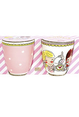 "Blond Amsterdam Set van 2 Minimokken Roze ""Even Bijkletsen"" - Blond Amsterdam"