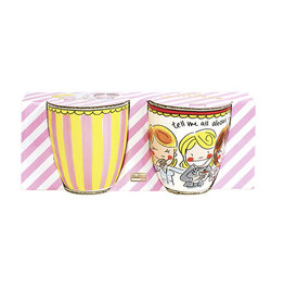 "Blond Amsterdam Set van 2 Minimokken Rood ""Even Bijkletsen"" - Blond Amsterdam"