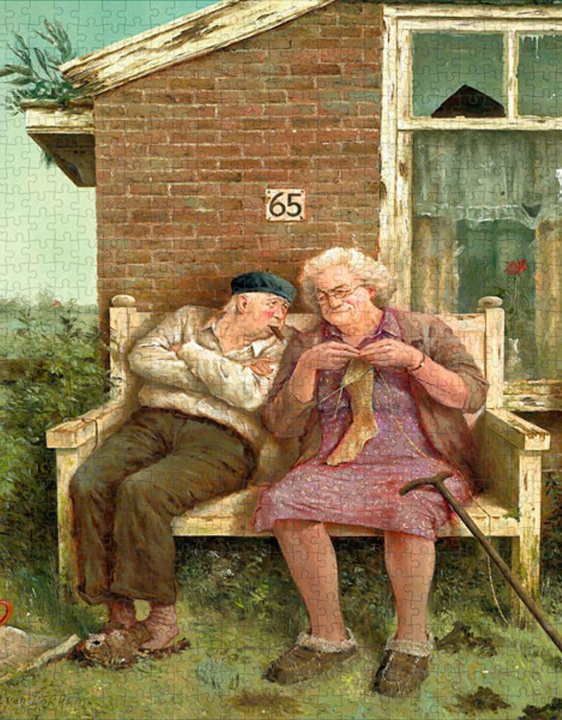 """Puzzel """"Liefde vergaat niet"""" Marius van Dokkum 48,5x54cm / 1000 pcs"""