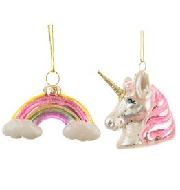 Eenhoorn en Regenboog Hanger in doosje - Sass & Belle