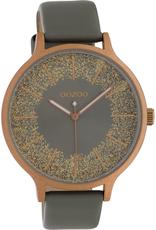 OOZOO Horloge grijs brons 45mm C10402 - OOZOO