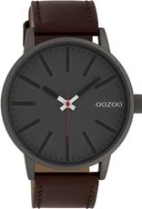 OOZOO Horloge Cognac Grijs 45mm C10011 - OOZOO