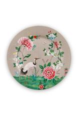 Pip Studio Onderbord Blushing Birds khaki 32cm - Pip Studio