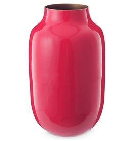 Pip Studio Vaas Metaal Ovaal roze 30cm - Pip Studio