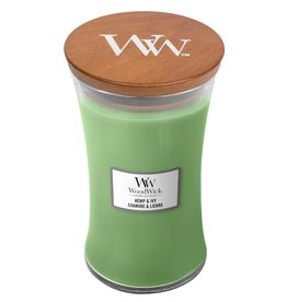 "WoodWick Kaars WoodWick ""Hemp & Ivy"" Large - WoodWick"